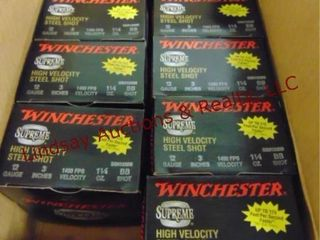 9   boxes Winchester 12 ga BB shot shells  See Pic