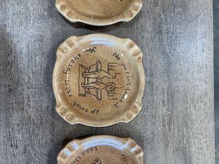3 Bathroom Funny Plates