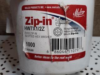 Malco HW7X1 2ZT Zip In Self Piercing Screw 1000 Count Carton