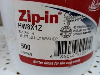 Malco HW8X1ZT Zip In Self Piercing Screw 500 Count Carton