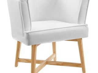 Anders White Upholstered Fabric Accent Chair by MODWAY  321 19