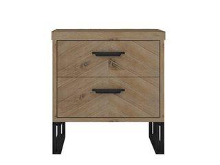 Carbon loft Harun Wood 2 drawer Nightstand  Retail 182 10 wedge brown