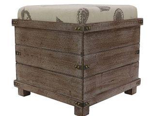 Hadley Weathered Storage Ottoman  Retail 89 49