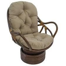 Blazing Needles 48 inch Solid Swivel Rocker Cushion only natural