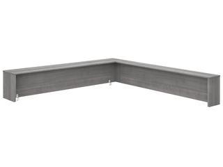 Bush Business Furniture Studio C 72W Reception Desk Shelf only in Platinum Gray