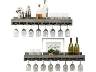 Del Hutson Designs Rustic luxe Stemware Shelf Set  36  Retail 85 49