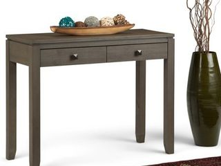 WYNDENHAll Essex SOlID WOOD 38 inch Wide Contemporary Console Sofa Table   38 Inches wide  Retail 227 99