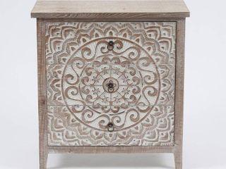 Wood Medallion Three Drawer Storage Cabinet  Retail 289 99