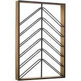 Wood and Metal Wall Mounted Wine Rack  36 25  x 24 25  Retail 95 99