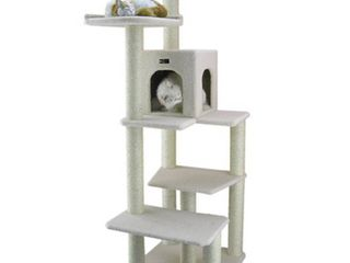 Armarkat Ivory Faux Fleece 68 inch Cat Tree Gym  Retail 146 99