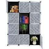 12 Cube Closet Organizer Shelves 2 Style  black panels with white doors