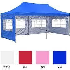 10 X20  POP UP Foldable Wedding Party Gazebo Canopy Tent W 4 Walls  Retail 156 99 blue