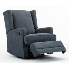 Shelby Wingback Swivel Glider Recliner by Greyson living  Retail 479 99 blue