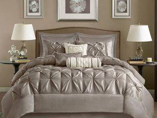 Madison Park Vivian Taupe 9 Piece Comforter Set  Retail 84 49