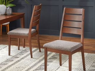 Set of 2 Malton Dining Chair Walnut   Buylateral