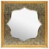 Gannaway Embossed Square Mirror by Christopher Knight Home   23 00  l x 23 00  W x 1 75  D  Retail 78 98 blue gold