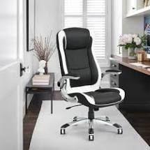Porch   Den Nehalem Black  Grey Upholstered Executive Desk Chair  Retail 228 99
