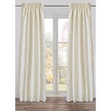 Ready Made  Fully Adjustable Drape Panel Marmara Ivory Small   48 X 118 Inches  Retail 99 99