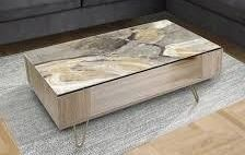 Designart  Glam Phoenix Neutral  Glam Coffee Table  Retail 209 99