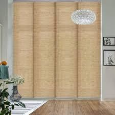 GoDear Design Natural Woven Adjustable Sliding Panel  45 8  86  W x 96  l  Retail 124 49 pecan