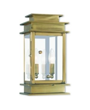 livex lighting Princeton Gold tone Brass 2 light Outdoor Wall lantern  Retail 349 90