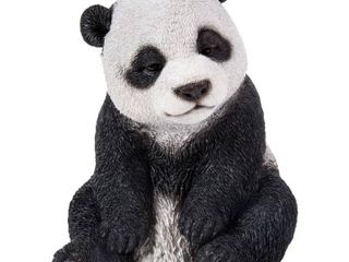 Drowsy Panda Sitting Statue