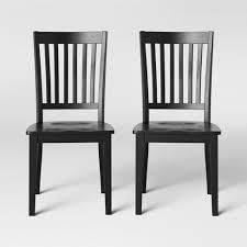Slat back Dining Chairs  Set of 2  Retail 77 48 black and oak