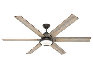 Hunter 70  Warrant Ceiling Fan with lED light Kit and Wall Control   Noble Bronze  Retail 399 99