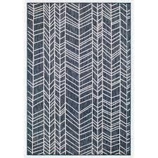 liora Manne Carmel Chevron Indoor Outdoor Rug Navy 7 10 x9 10  Retail 179 99