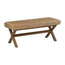 The Curated Nomad Baker Brown Woven Bench  Retail 195 49