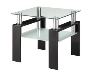 Occasional Contemporary Black End Table  Retail 167 99