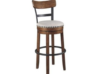 Valebeck Bar Height Swivel Barstool   Brown  Retail 135 49