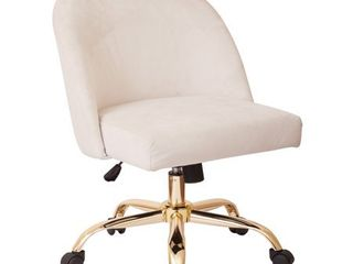 layton Mid Back Office Chair with Gold Base