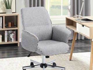 Porch   Den Mohave Grey Fabric Turned Arm Desk Chair Retail 143 49