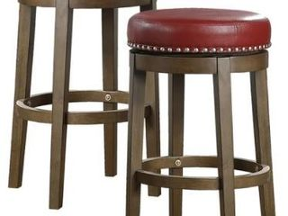 Michigan Round Swivel Stool  Set of 2  Retail 196 49
