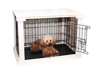 Pet Cage with Crate Cover  white  Medium  Auburn