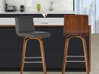 Carson Carrington Skara 26 inch Swivel Counter Height Barstool in Walnut Wood Finish with PU Upholstery Retail 129 99