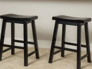 Pomeroy 24 inch Saddle Wood Counter Stool  Set of 2  by Christopher Knight Home  Retail 96 99