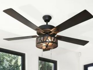 Copper Grove Chaguaramas 52 inch Urban Industrial Caged lED Ceiling Fan   52 l x 52 W x 19 25 H Retail 239 49