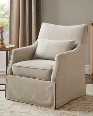 Martha Stewart london Skirted Swivel Chair Retail 445 49