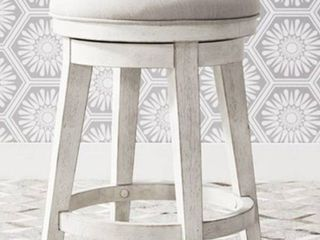 Modern Farmhouse Flea Market White Console Swivel Stool  Retail 185 99