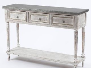Wood and Metal Farmhouse Distressed Console Table Retail 251 99