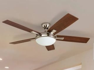 Copper Grove Garff 52 inch Brushed Nickel Ceiling Fan with Remote  Retail 182 99