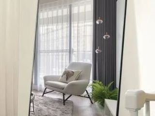Modern Aluminum Alloy Thin Framed Full length Floor Mirror  Retail 249 49