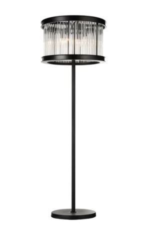 6 light Floor lamp with Black Finish and Clear Crystals  Retail 196 49