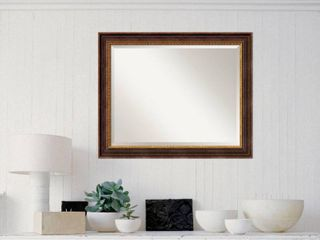 Wall Mirror large  Veneto Distressed Black 33 x 27 inch   large   33 x 27 inch