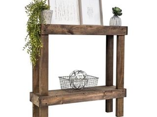The Gray Barn Holyhead Handmade Rustic luxe Small Wooden Sofa Table Retail 129 49