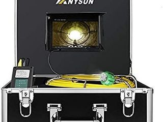 Anysun Plumbing Camera 100ft Waterproof IP68 DVR Video Inspection Equipment 7 Inch lCD Monitor