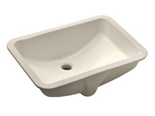 21 in  x 15 in  x 7 in  Rectangular Vitreous Ceramic lavatory Single Bowl Undermount Bath Sink in Bisque
