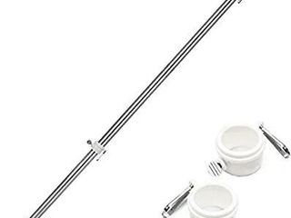 diig 6FT Flag Pole Kit Stainless Steel Heavy Duty American US Flagpole  Rustproof for Outdoor Garden Roof Walls Yard Truck Without Bracket